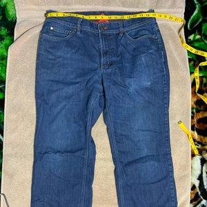 L.L. Bean lined denim jeans